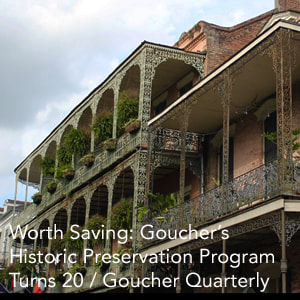 Goucher's Historic Preservation Program Profile Link
